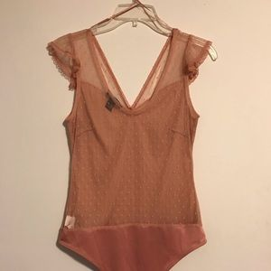 COPY - Rose Pink Forever 21 L Bodysuit